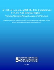 Lawyers' Committee for Civil Rights Under Law - Office of the High ...