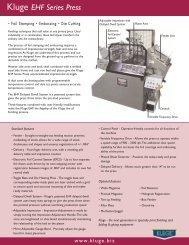 Kluge EHF Series Press - Flexo Image Graphics Pvt. Ltd.
