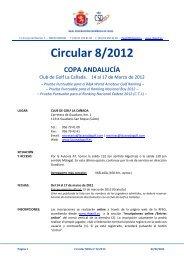 circular 08/2012 - Real Federación Española de Golf