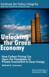 Unlocking the Green Economy - Institute for Policy Integrity
