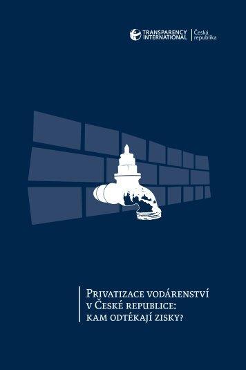 Privatizace vodárenství v České republice: kam odtékají zisky?