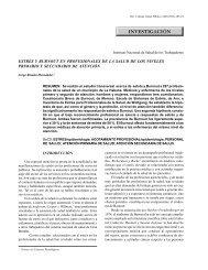 ESTRÉS Y BURNOUT EN PROFESIONALES DE LA ... - Infomed