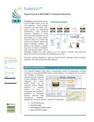 TurboVUi System Brochure - Emergency Radio Service Inc.