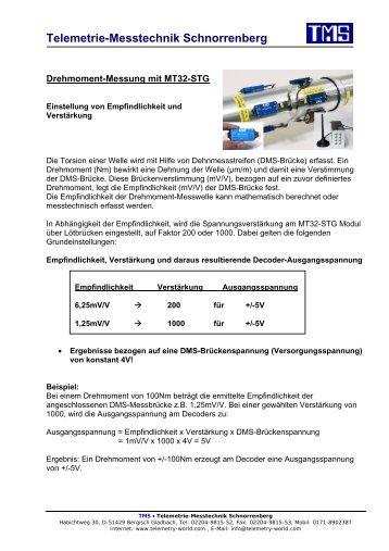 Telemetrie-Messtechnik Schnorrenberg - TMS · Telemetrie ...