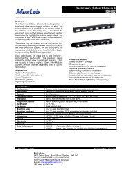 Rackmount Balun Chassis 6 500902 - Muxlab