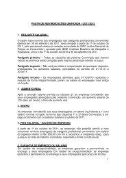 1 PAUTA DE REIVINDICAÇÕES UNIFICADA – 2011 ... - Senge-MG