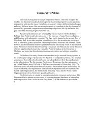 Comparative Politics - Department of Political Science - Indiana ...