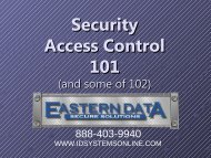 Access Control Presentation - Eastern Data Secure Solutions