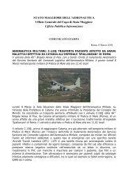 C-130J trasporta paziente affetto da grave malattia infettiva da ...