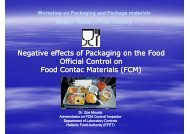 Negative effects of Packaging on the Food Official Control on Food ...