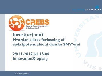 Invest(or) not? - Innovation X