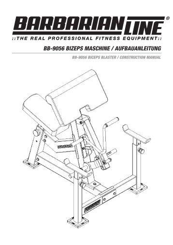 bb-9056 bizeps maschine / aufbauanleitung - Megafitness-Shop