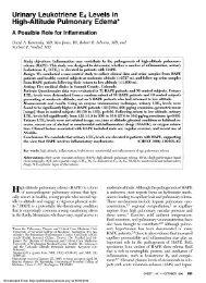High-Altitude Pulmonary Edema*