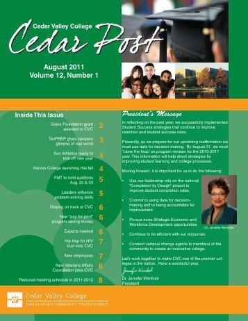 August 2011 - Cedar Valley College