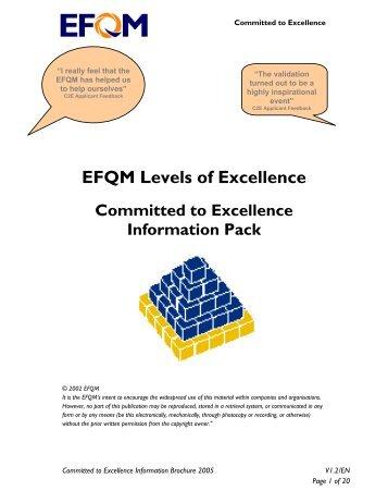 EFQM Levels of Excellence