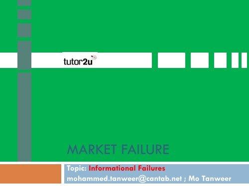 market failure - Tutor2u