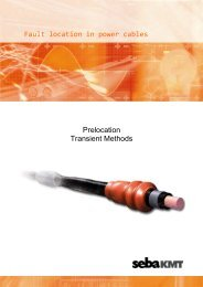 Fault location in power cables Prelocation Transient ... - SebaKMT