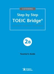 Step by Step TOEIC Bridge Listening 2B
