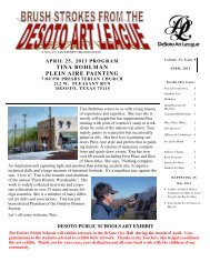 to see the april 2013 newsletter - desoto art league