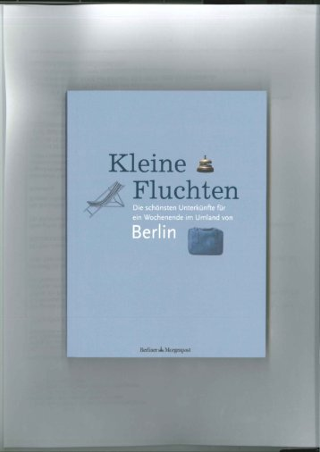 Berliner Morgenpost, Kleine Fluchten - SeeLodge