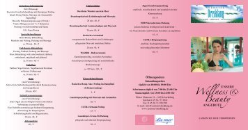 Wellness & Beauty - im Seehotel Dreiklang