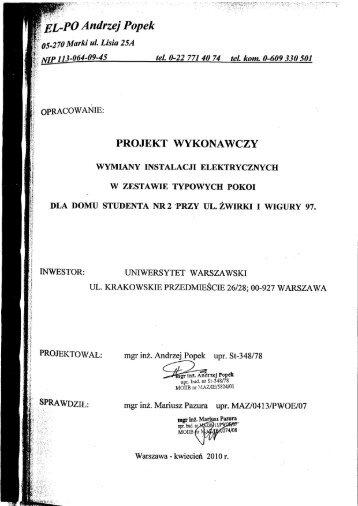 ÊL-PO Andrzej Popek 5.2 70 Marki ul. Lisia 25A NIP 113-064-09-45 ...