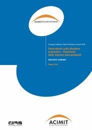 Osservatorio sulla dinamica economico - finanziaria delle ... - Acimit