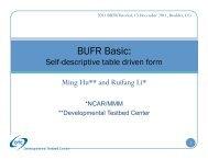 BUFR Basic: - Developmental Testbed Center