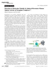 Detection of Molecular Chirality by Induced Resonance Raman ...