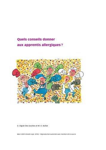 Quels conseils donner aux apprentis allergiques ? - Institut ...
