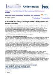 IG Metall Küste: Energiechaos gefährdet Arbeitsplätze in der ...