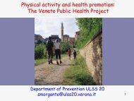 Giornata di formazione per i Comuni L'attività fisica per la salute ...