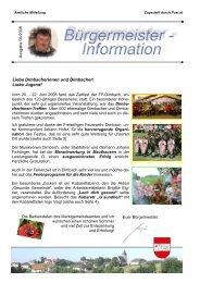 14. August 2008 - Marktgemeinde Dimbach