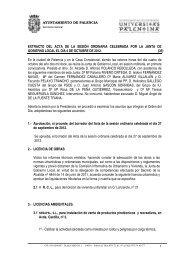 EXTRACTO DEL ACTA DE LA SESIÓN ORDINARIA CELEBRADA ...