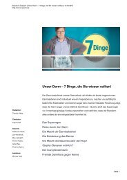 Unser Darm – 7 Dinge, die Sie wissen sollten! - WDR.de