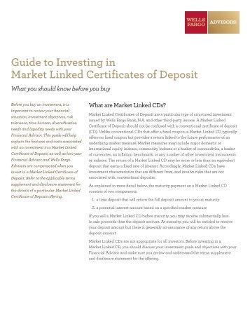 Guide to Investing in Market Linked Certificates of Deposit - saf ...