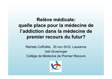 CoRoMa_Grueninger I.pptx - Collège romand de médecine de l ...
