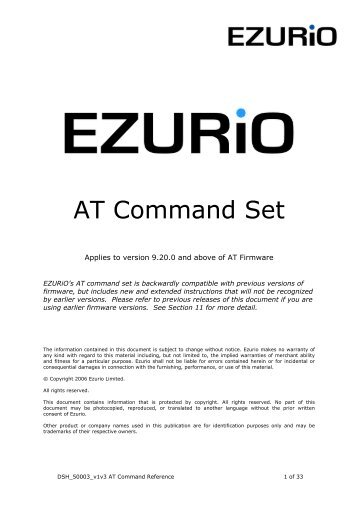 Bluetooth Module AT Command Set - Matrix Multimedia Ltd