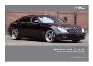 CLS Klasse W219 Preislist EN.indd - MEC DESIGN