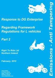 Framework Regulation – Part 2 - Right To Ride