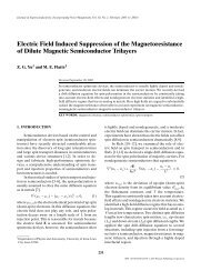 Electric Field Induced Suppression of the ... - University of Iowa