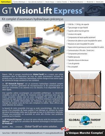 VisionLift Express - Global Tardif Groupe manufacturier d'ascenseurs