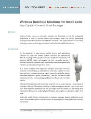 Wireless Backhaul Solutions for Small Cells - Ceragon Networks Ltd.