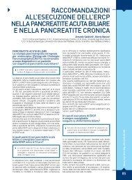raccomandazioni all'esecuzione dell'ercp nella pancreatite ... - Sied