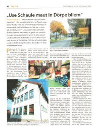 Pressebericht Land und Forst vom 23.10.2008  - Schwiegershausen