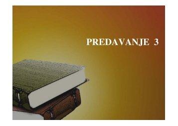 PREDAVANJE 3-2013 (1