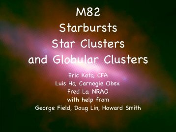 M82, Starbursts, and the Formation of Star Clusters - (SFIG) of PMO