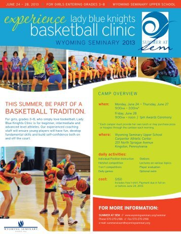 basketball clinic - Wyoming Seminary
