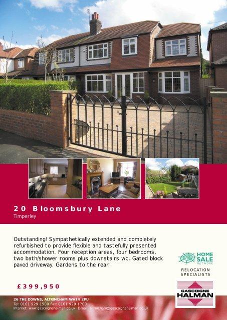20 Bloomsbury Lane - Check