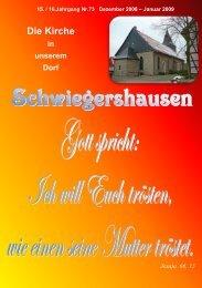 Die Kirche in unserem Dorf - Schwiegershausen